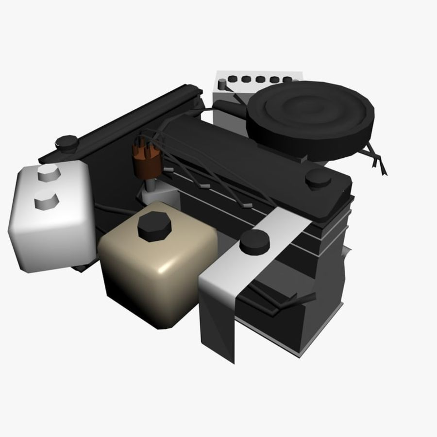 VAZ Engine royalty-free 3d model - Preview no. 4