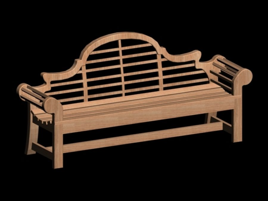 Park Bench royalty-free 3d model - Preview no. 1