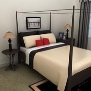 bed black.zip 3d model