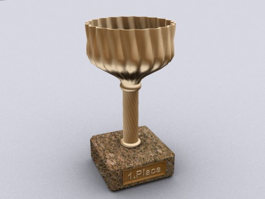 cup goblet trophy royalty-free 3d model - Preview no. 2