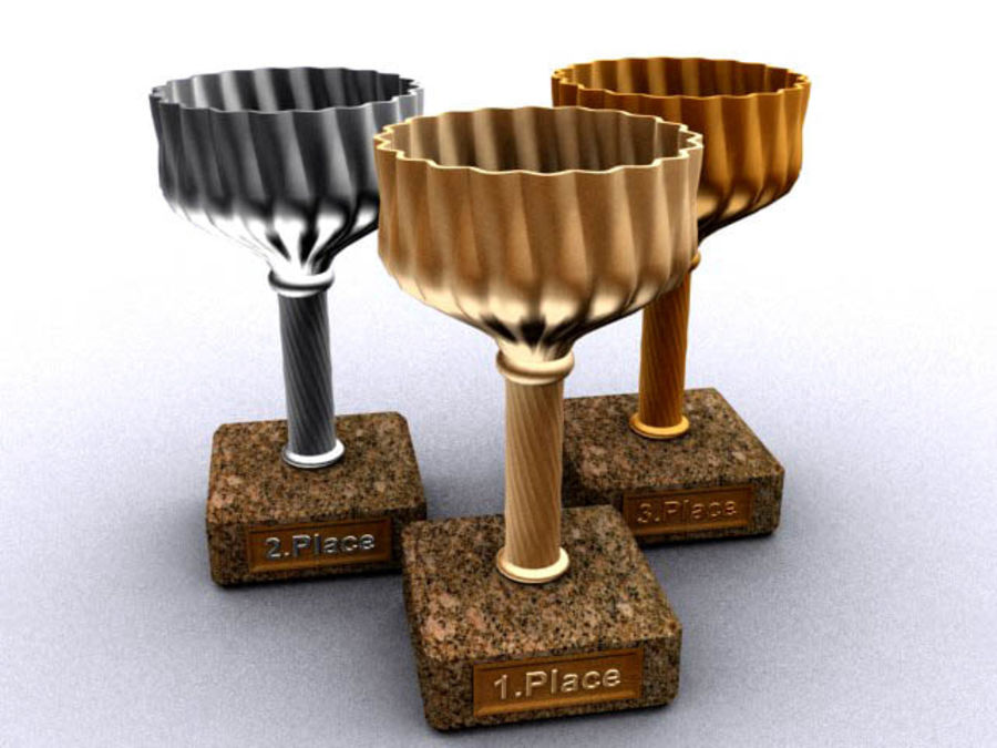 cup goblet trophy royalty-free 3d model - Preview no. 1