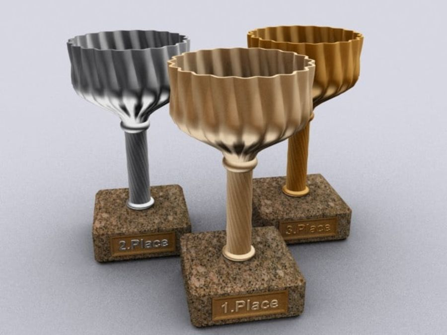 cup goblet trophy royalty-free 3d model - Preview no. 4