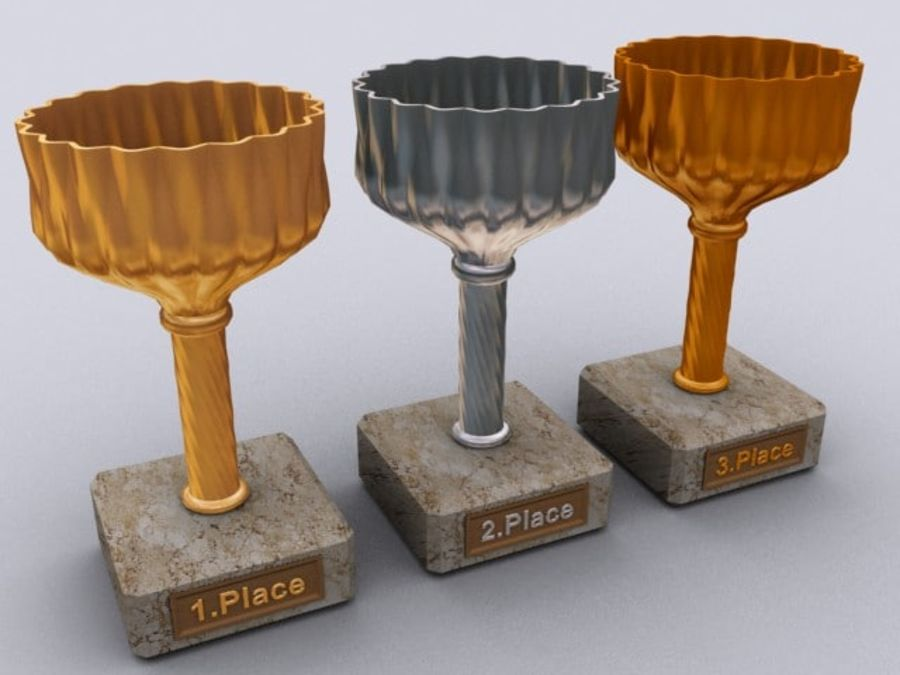 cup goblet trophy royalty-free 3d model - Preview no. 3