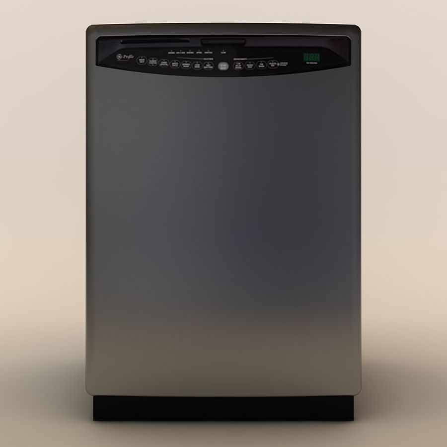 Dishwasher royalty-free 3d model - Preview no. 3