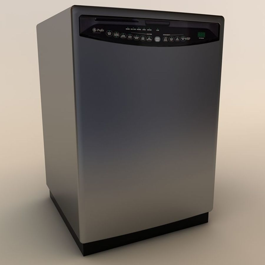 Dishwasher royalty-free 3d model - Preview no. 7