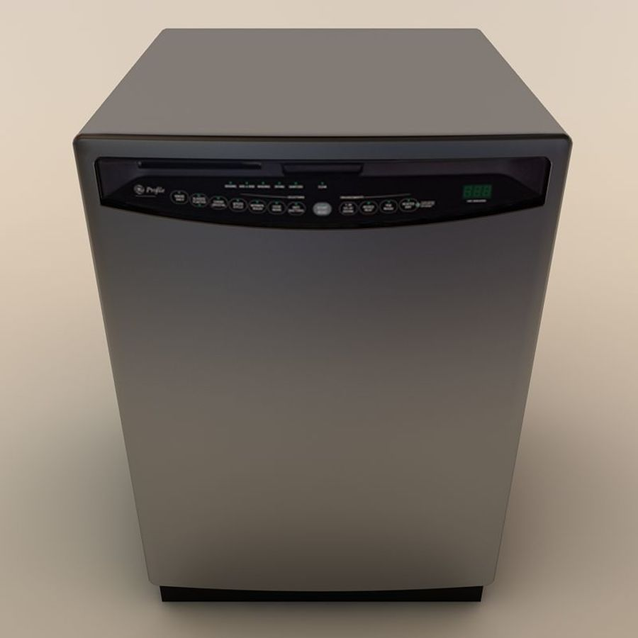Dishwasher royalty-free 3d model - Preview no. 4