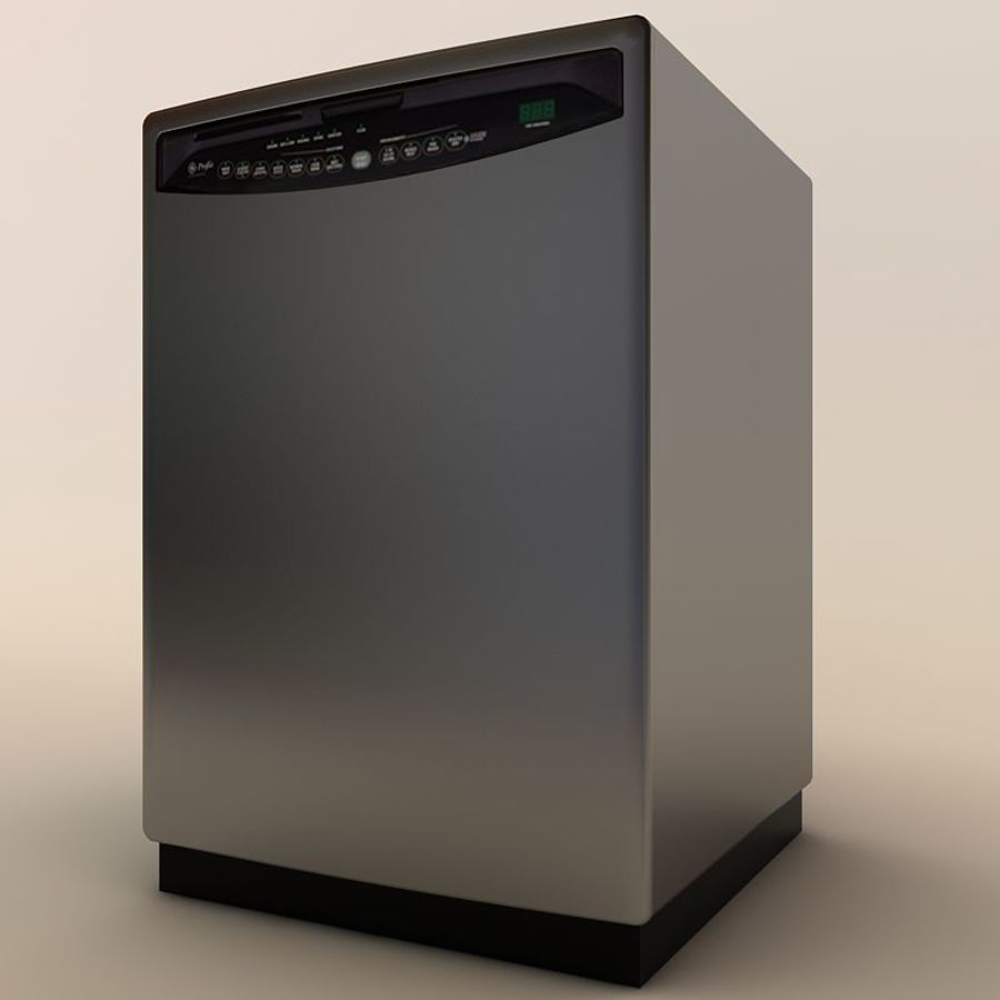 Dishwasher royalty-free 3d model - Preview no. 2