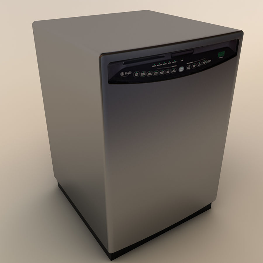 Dishwasher royalty-free 3d model - Preview no. 6