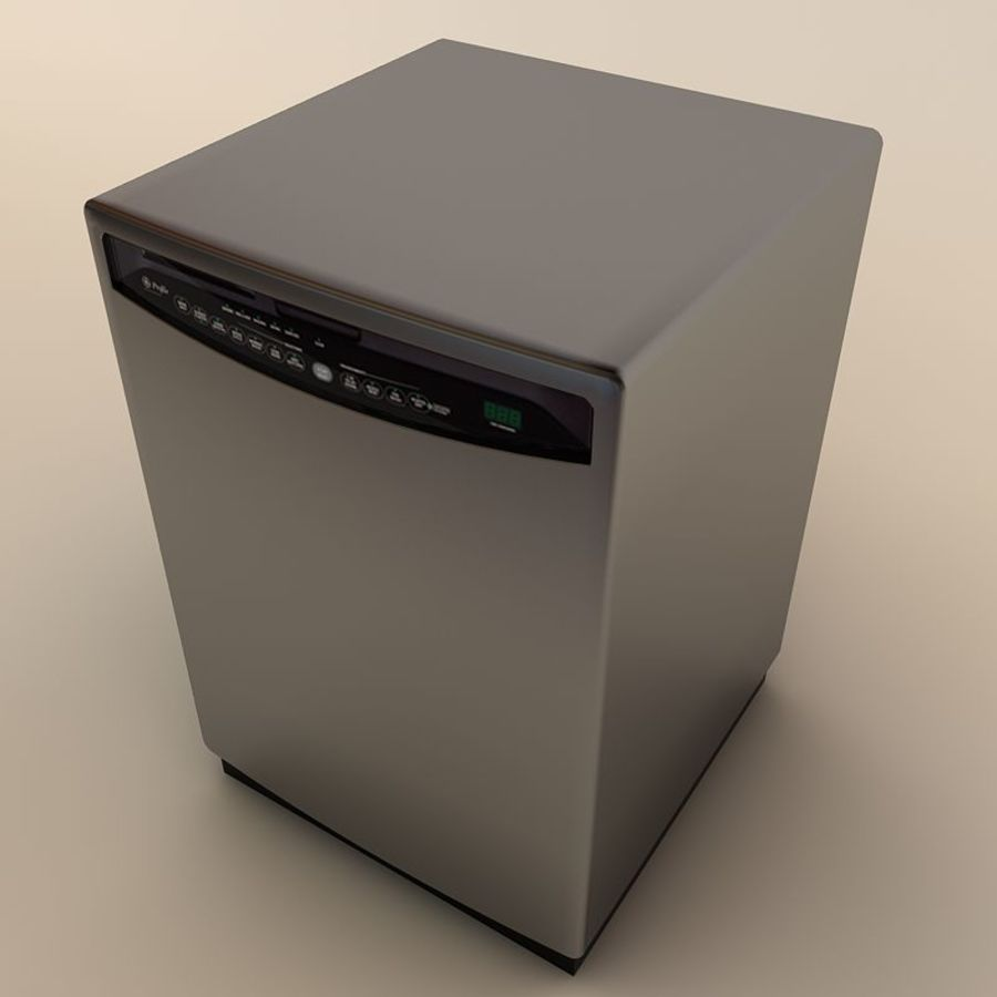 Dishwasher royalty-free 3d model - Preview no. 9