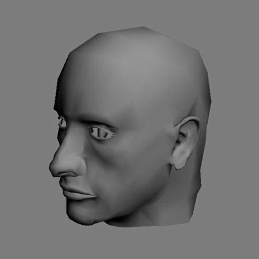 Male Head royalty-free 3d model - Preview no. 1