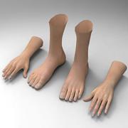 腿手 3d model