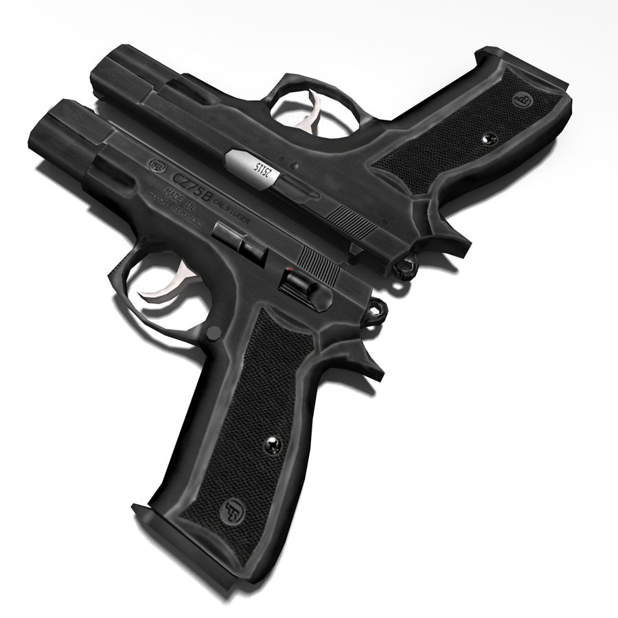Gun CZ-75 royalty-free 3d model - Preview no. 5