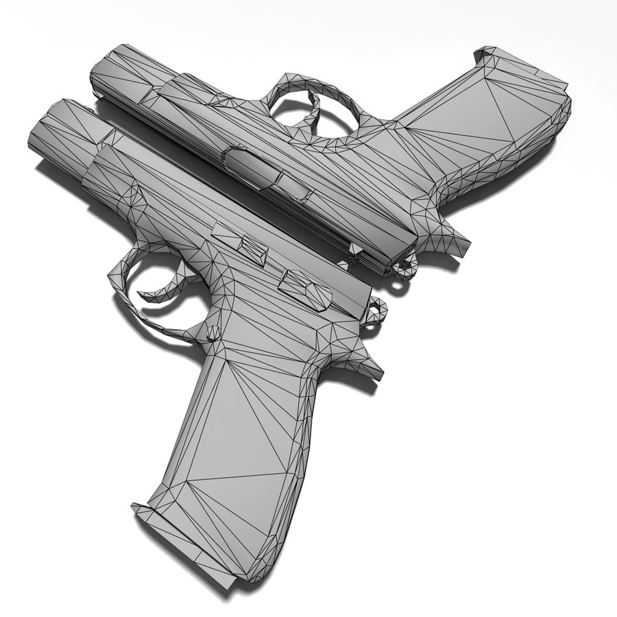Gun CZ-75 royalty-free 3d model - Preview no. 7
