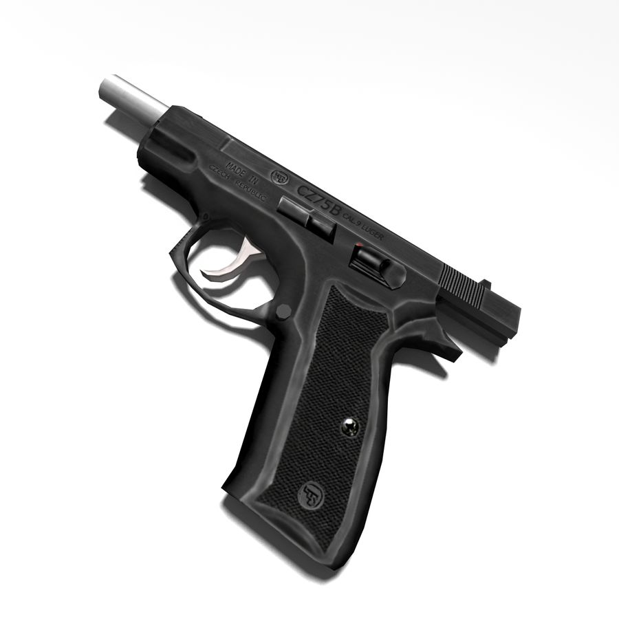 Gun CZ-75 royalty-free 3d model - Preview no. 4