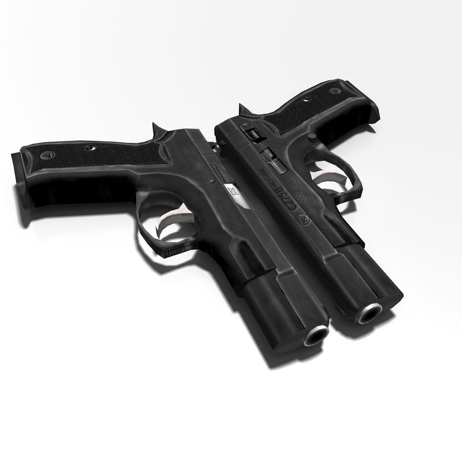 Gun CZ-75 royalty-free 3d model - Preview no. 6