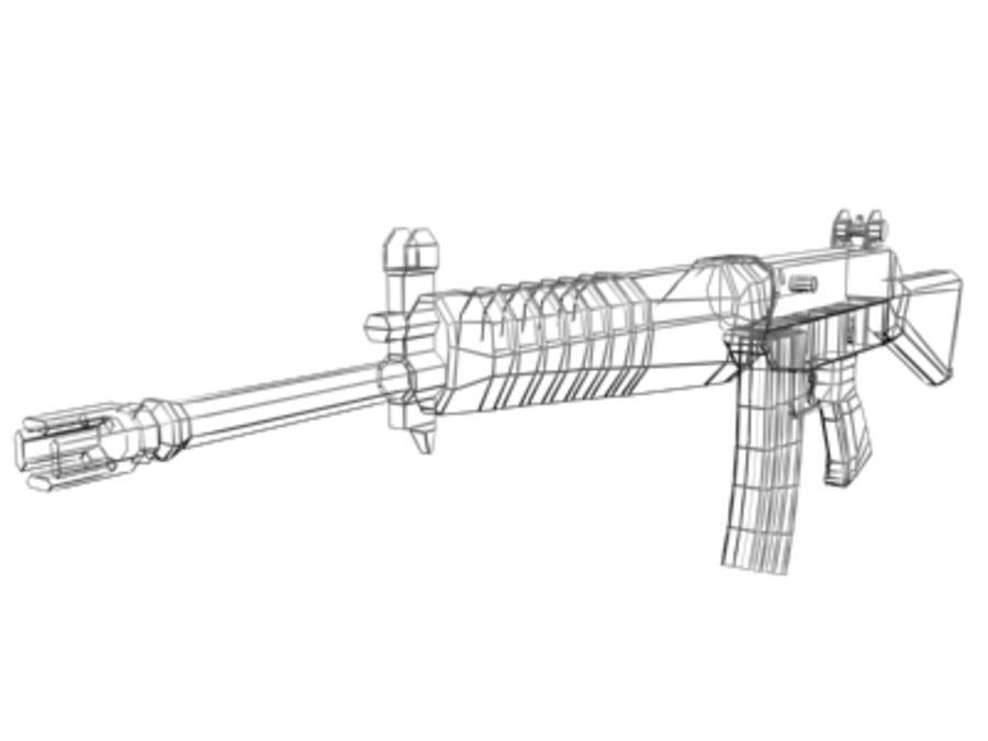 SAR 80 Singapore Assault Rifle royalty-free 3d model - Preview no. 3