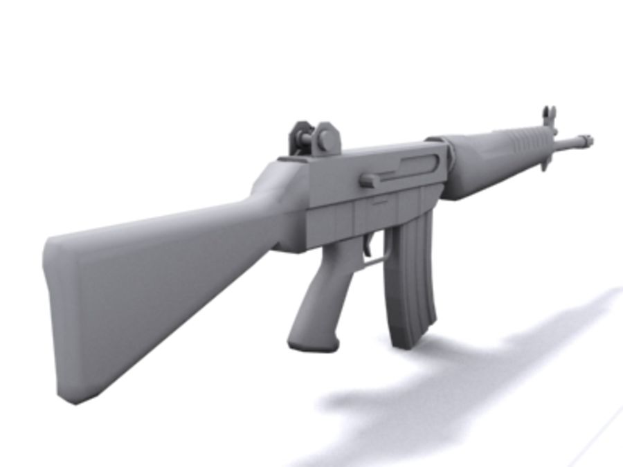SAR 80 Singapore Assault Rifle royalty-free 3d model - Preview no. 2