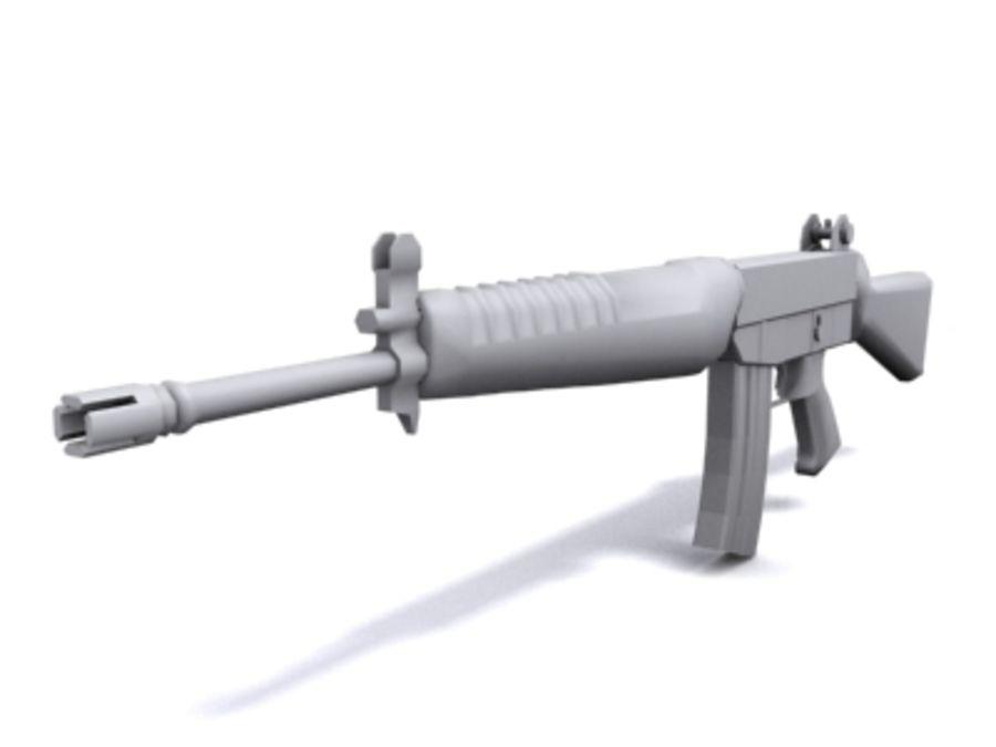 SAR 80 Singapore Assault Rifle royalty-free 3d model - Preview no. 1