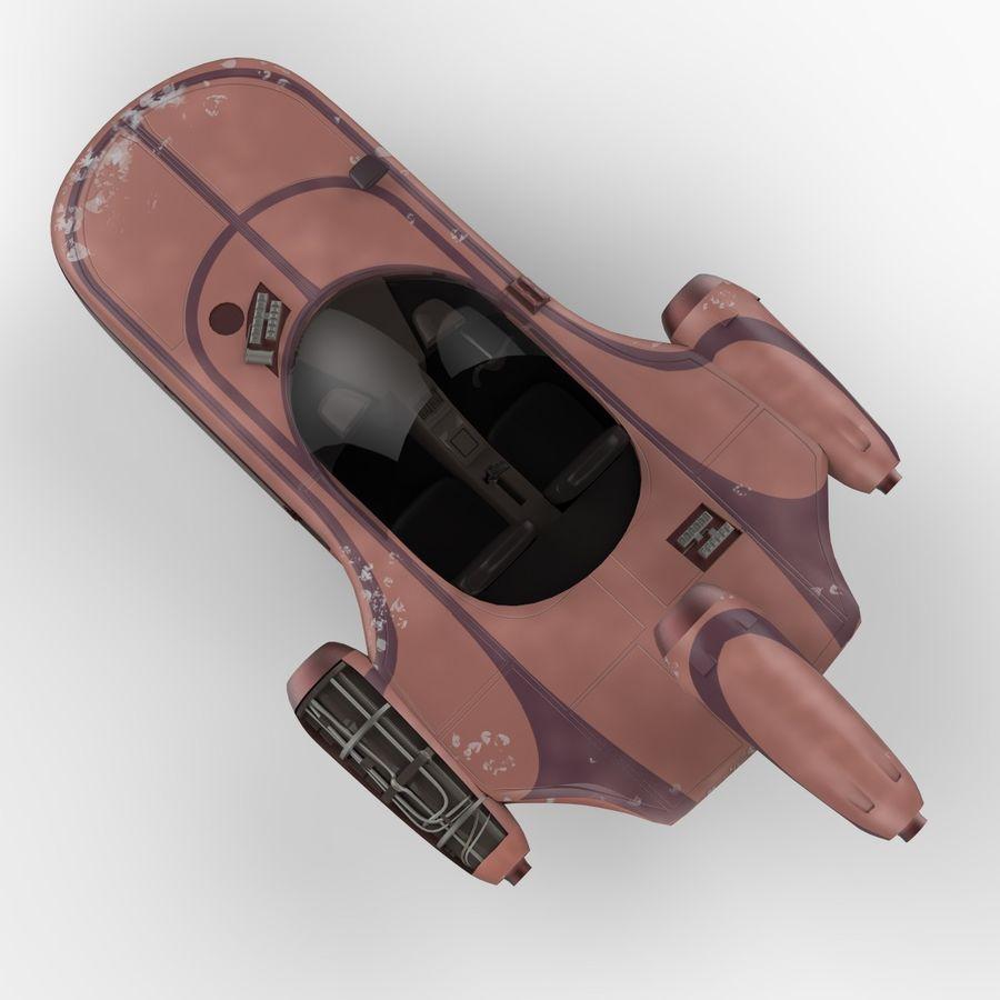 Star Wars Landspeeder royalty-free 3d model - Preview no. 5