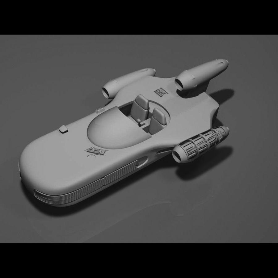 Star Wars Landspeeder royalty-free 3d model - Preview no. 9