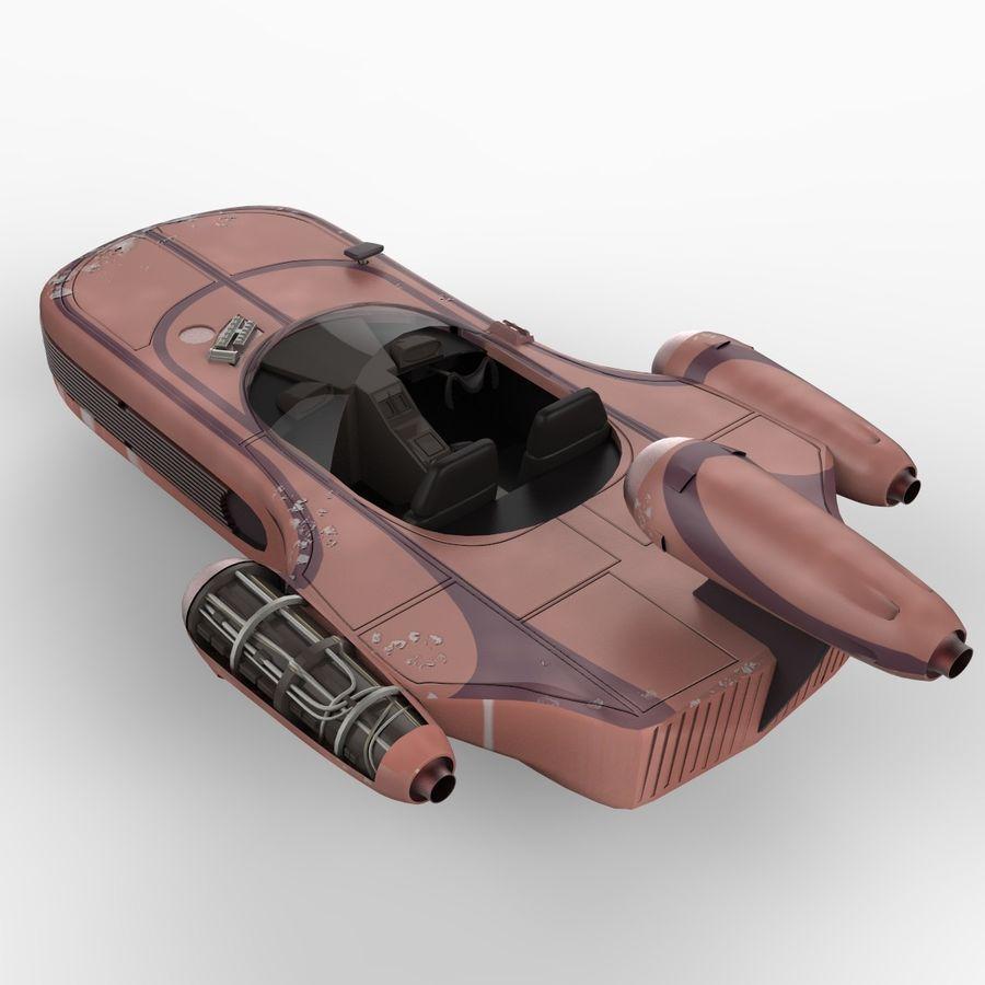 Star Wars Landspeeder royalty-free 3d model - Preview no. 3