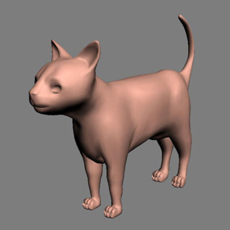 猫 royalty-free 3d model - Preview no. 2
