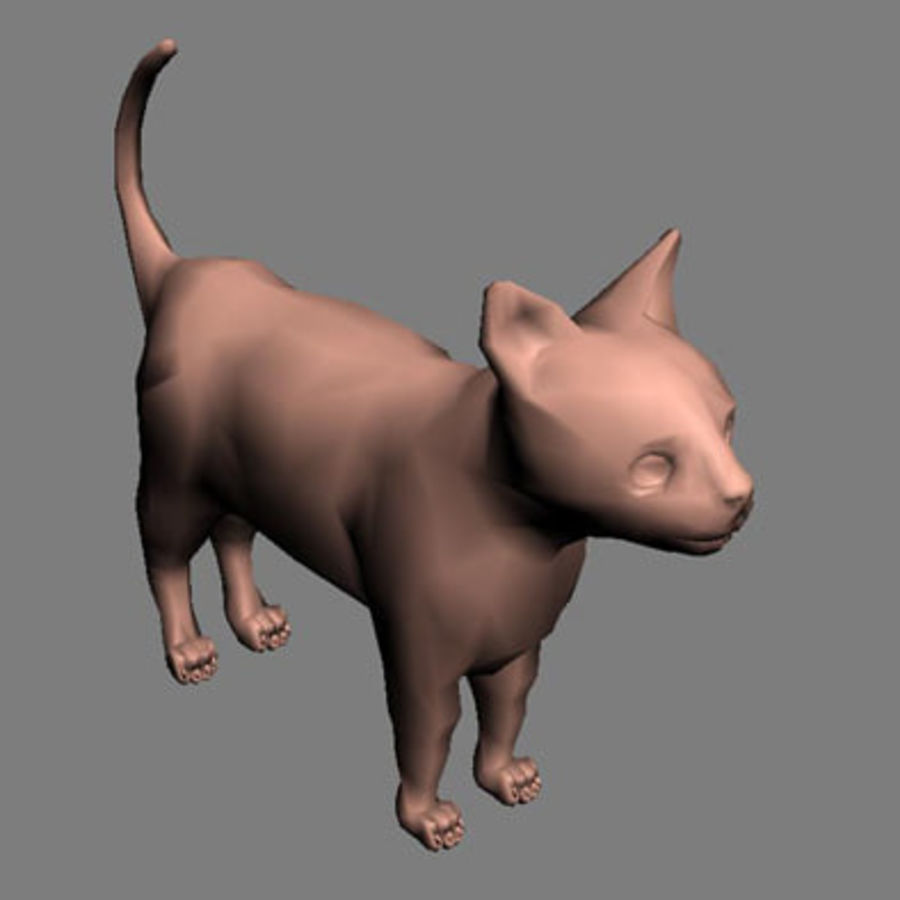 猫 royalty-free 3d model - Preview no. 7