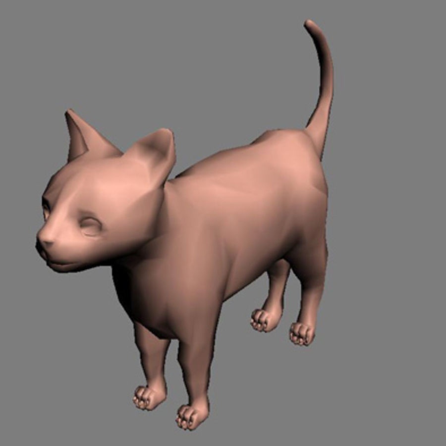 猫 royalty-free 3d model - Preview no. 1