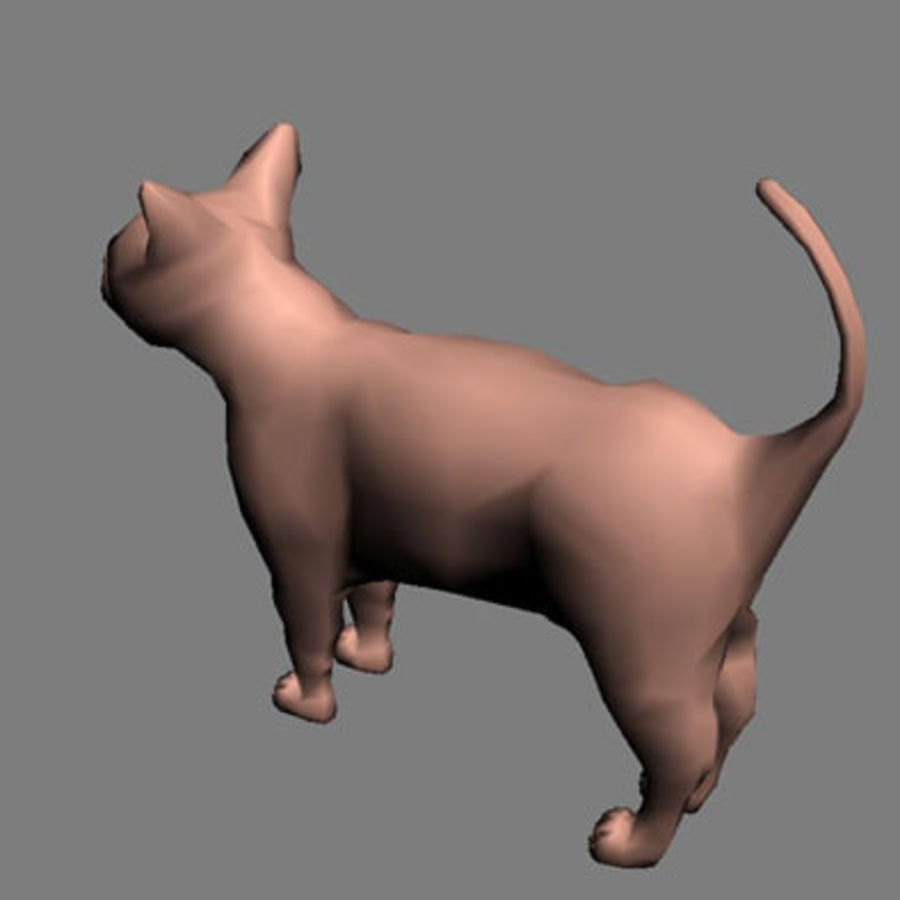 猫 royalty-free 3d model - Preview no. 6