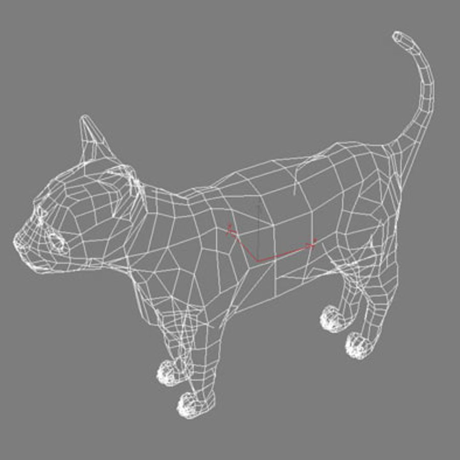 猫 royalty-free 3d model - Preview no. 8