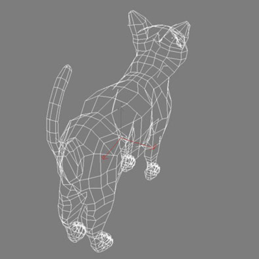 猫 royalty-free 3d model - Preview no. 9