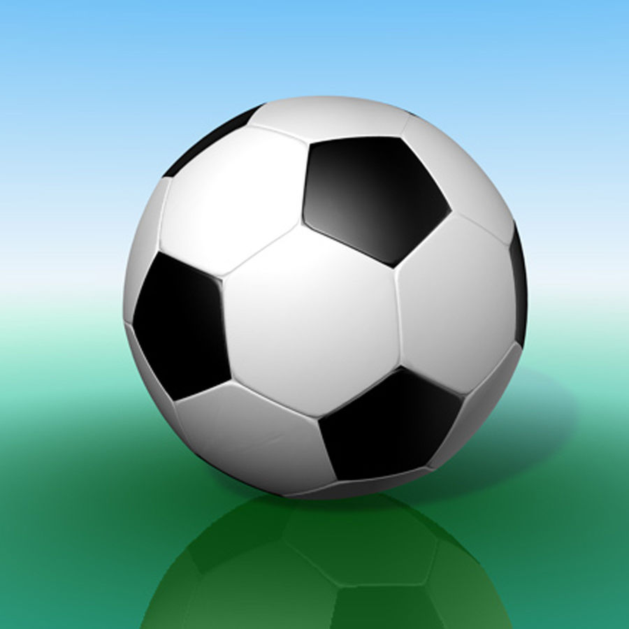 Soccer ball royalty-free 3d model - Preview no. 5