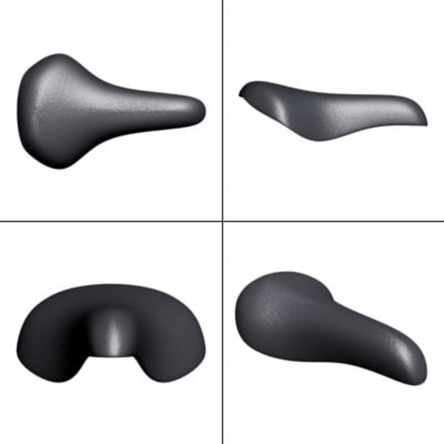 Bicycle seat royalty-free 3d model - Preview no. 2