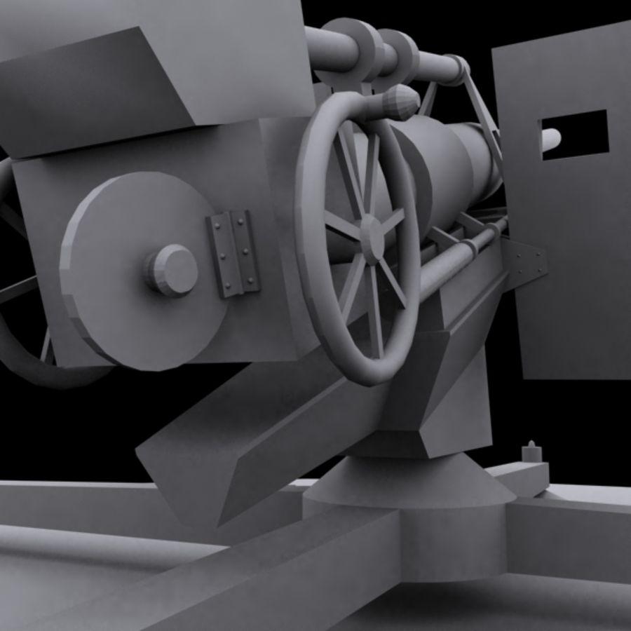 Pistola de artillería royalty-free modelo 3d - Preview no. 2