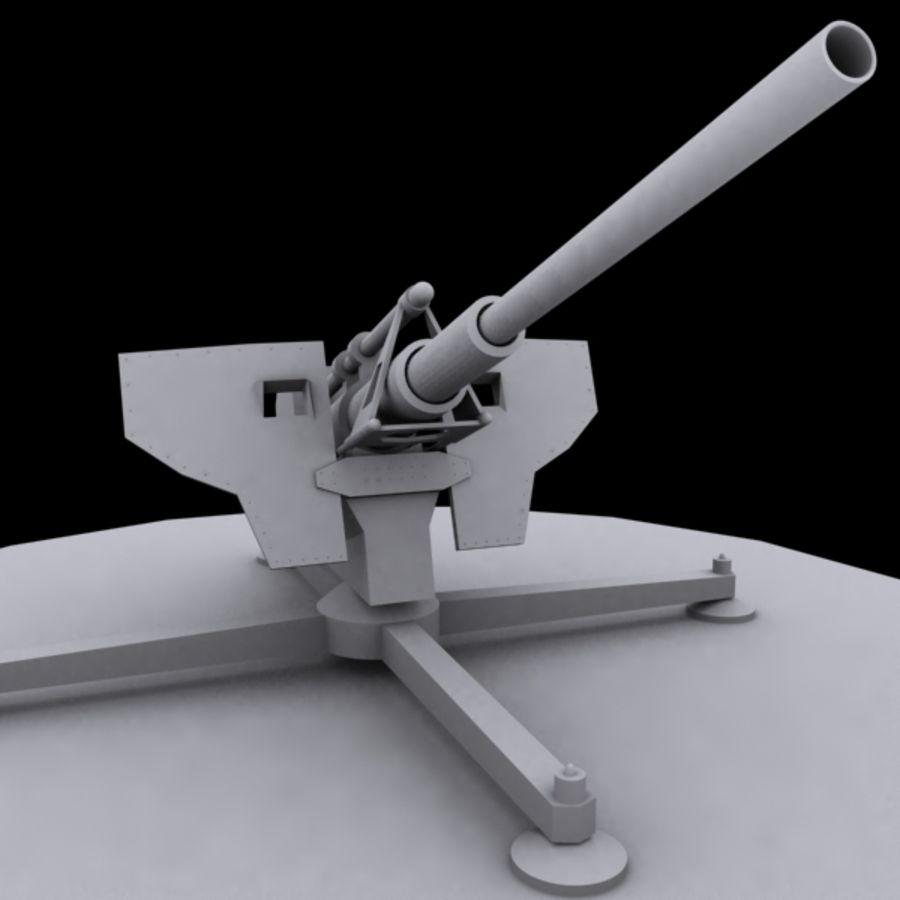 Pistola de artillería royalty-free modelo 3d - Preview no. 3
