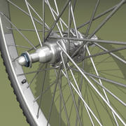 Two types of bicycle wheels 3d model
