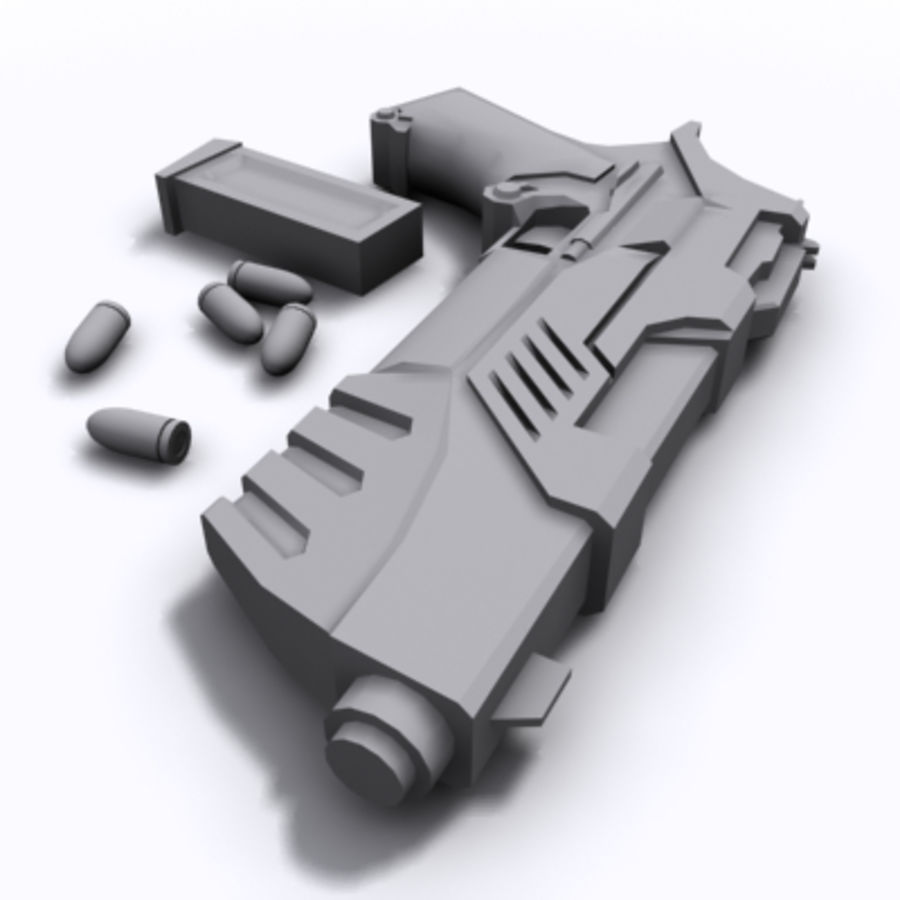 Scifi Pistol royalty-free 3d model - Preview no. 1