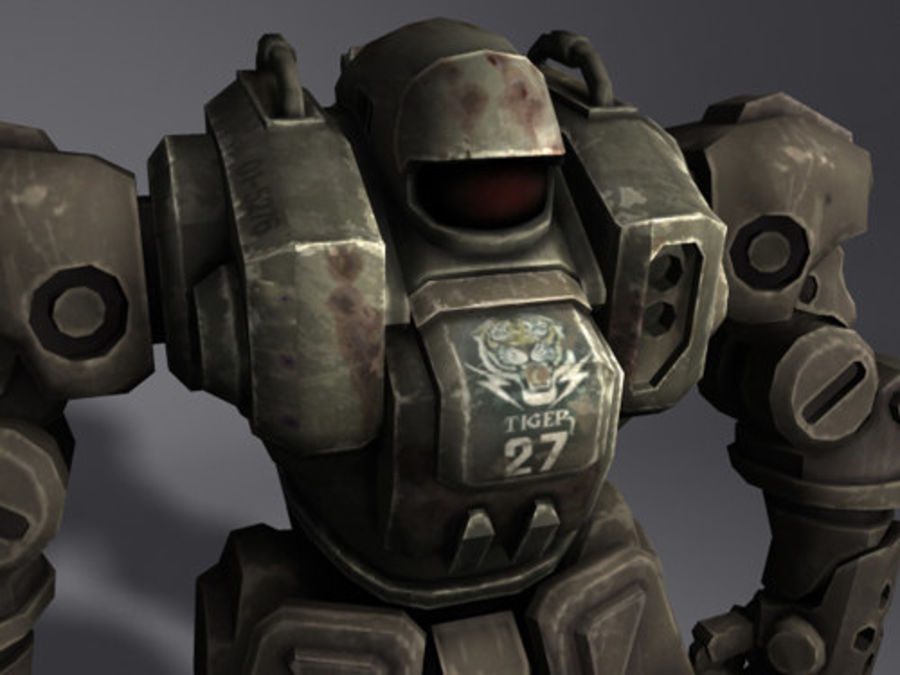 Power Armor royalty-free 3d model - Preview no. 7