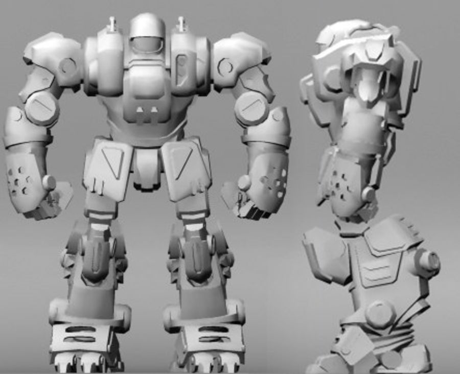 Power Armor royalty-free 3d model - Preview no. 8