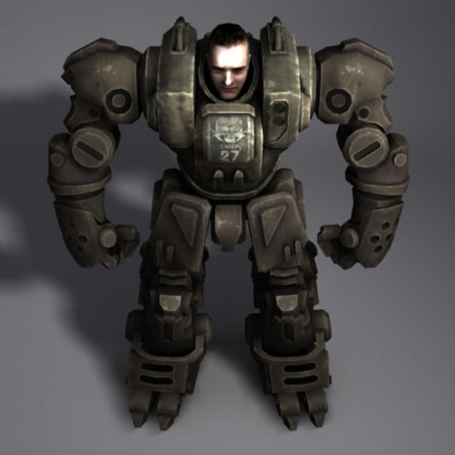 Power Armor royalty-free 3d model - Preview no. 6