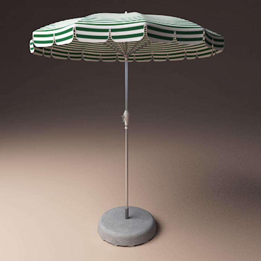 Garden umbrella royalty-free 3d model - Preview no. 2