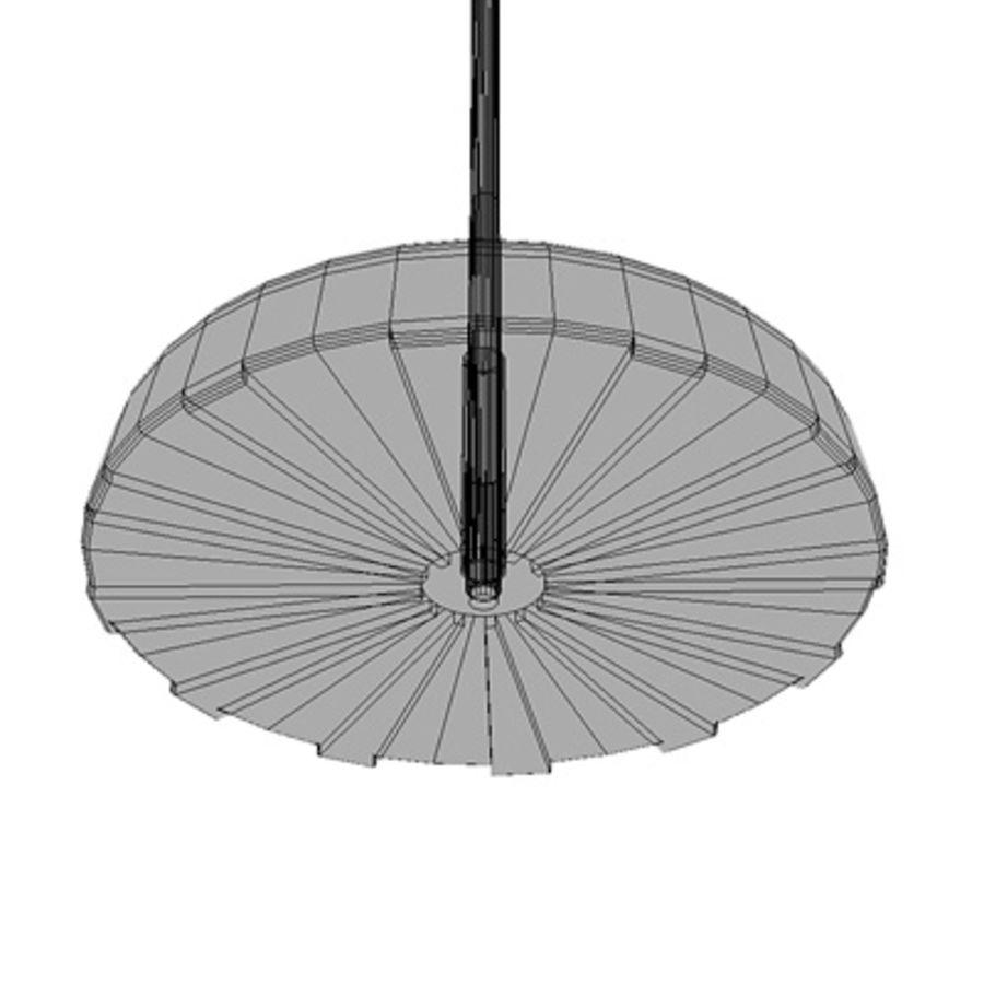 Garden umbrella royalty-free 3d model - Preview no. 6