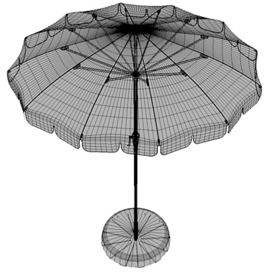 Garden umbrella royalty-free 3d model - Preview no. 4