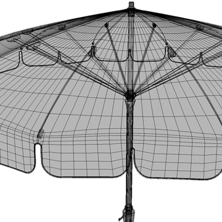 Garden umbrella royalty-free 3d model - Preview no. 7