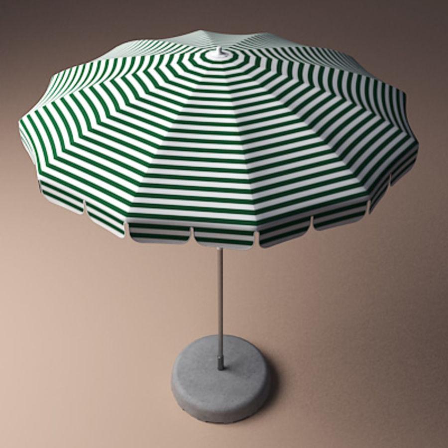 Garden umbrella royalty-free 3d model - Preview no. 1