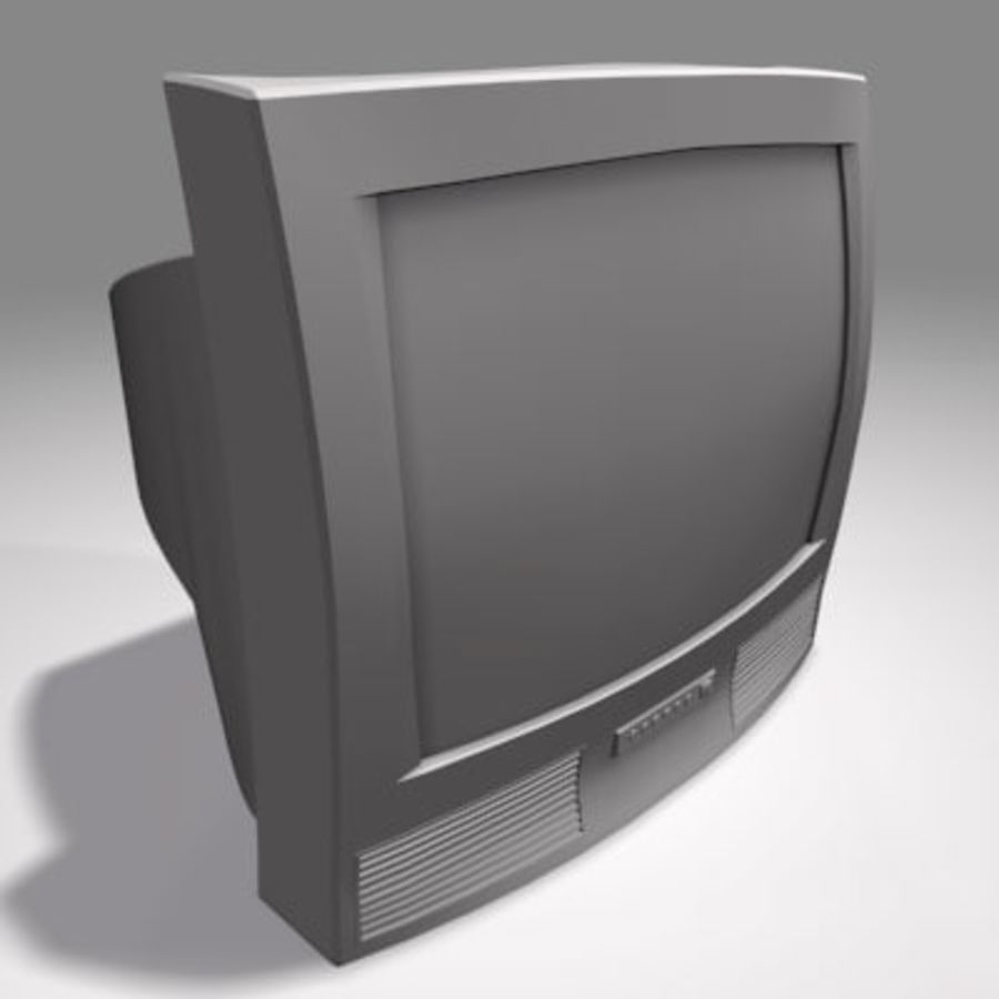 TV-apparat royalty-free 3d model - Preview no. 2