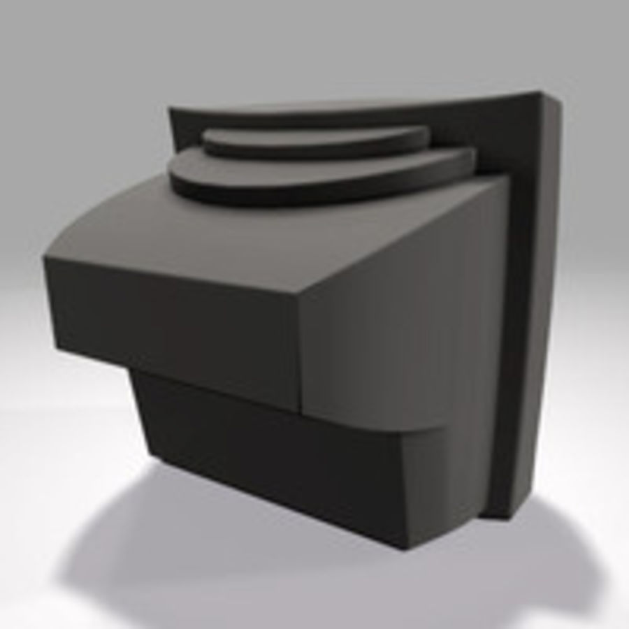 TV-apparat royalty-free 3d model - Preview no. 4