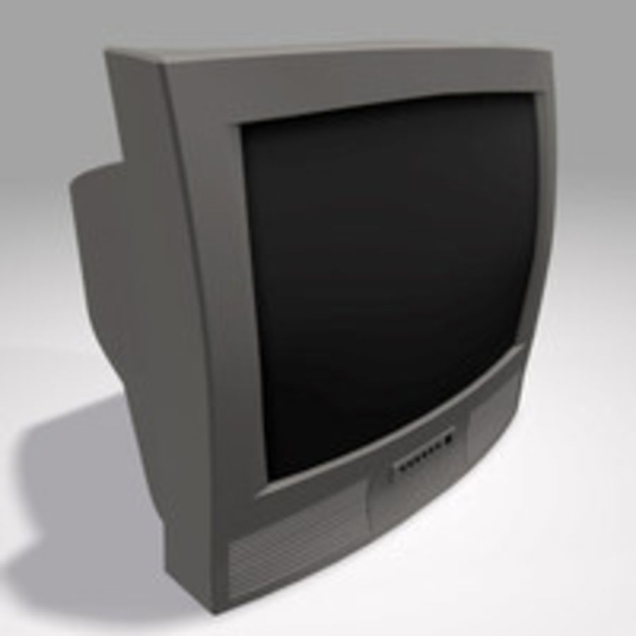 TV-apparat royalty-free 3d model - Preview no. 1