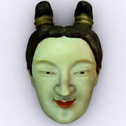 Japanese Woman Mask 3d model
