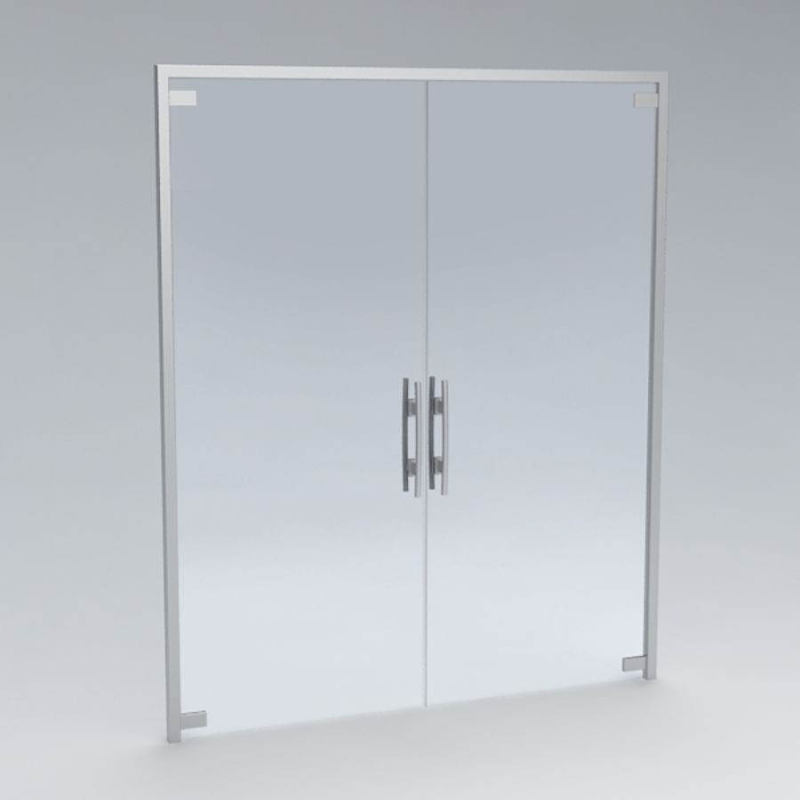 Door glass056 royalty-free 3d model - Preview no. 3